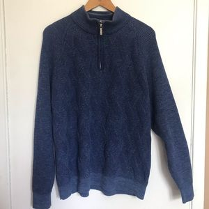 Tommy Bahama Knit Zip Up sweater size XL